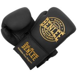 Benlee Warren Boxhandschuhe Leder Black Gold Laced