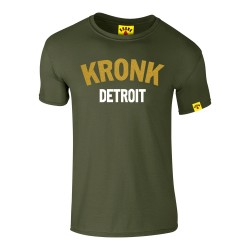 Kronk Detroit Gold Series Slim Fit T-Shirt Military Green