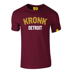 Kronk Detroit Gold Series Slim Fit T-Shirt Maroon