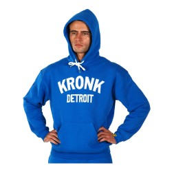 Kronk Detroit Applique Hoodie Royal Blue