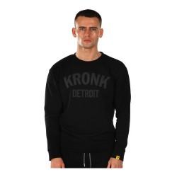 Kronk Detroit Applique Sweatshirt Black