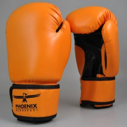 Abverkauf Phoenix Life Boxhandschuhe PU Orange Schwarz