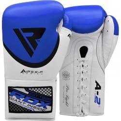 RDX Pro Leder Boxhandschuh FA2 blau