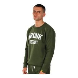 Kronk Detroit Applique Sweatshirt Military Green