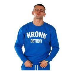 Kronk Detroit Applique Sweatshirt Royal Blue