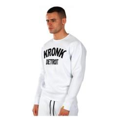 Kronk Detroit Applique Sweatshirt White