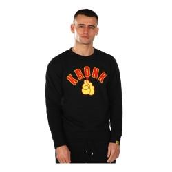 Kronk Gloves Applique Sweatshirt Black