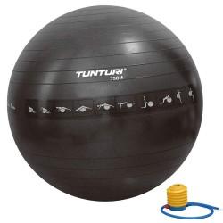Tunturi Gymnastikball schwarz Anti Burst 75cm