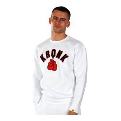 Kronk Gloves Applique Sweatshirt White