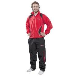 Top Ten Fitnessanzug Rot Schwarz