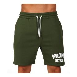 Kronk Detroit Jog Shorts Military Green