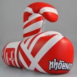 Phoenix Thai Boxhandschuhe Leder Rot Weiss