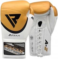 RDX Pro Leder Boxhandschuh FA2 golden