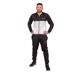 Top Ten SlimFit Trainingsanzug Schwarz Weiss