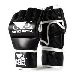 Bad Boy MMA Handschuhe mit Daumen Black White