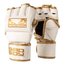 Bad Boy MMA Handschuhe mit Daumen White Gold