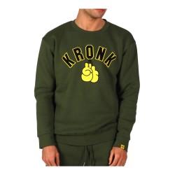 Kronk Gloves Applique Sweatshirt Military Green