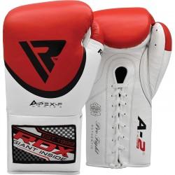 RDX Pro Leder Boxhandschuh FA2 rot