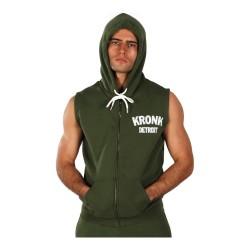 Kronk Detroit Applique Zip Hoodie SL Military Green