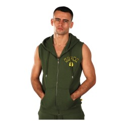 Kronk Gloves Applique Zip Hoodie SL Military Green
