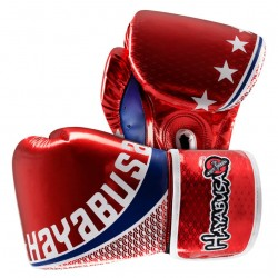 Hayabusa Pro Muay Thai 10oz Velcro Gloves Red