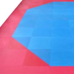 Phoenix Octagon Set für 8x8m Blau Rot Kampfsportmatten
