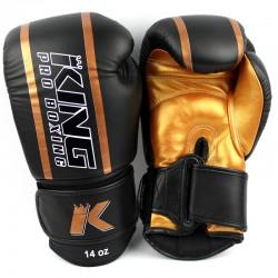 King Pro Boxing KPB BG Elite 3 Boxhandschuhe Leder Gold
