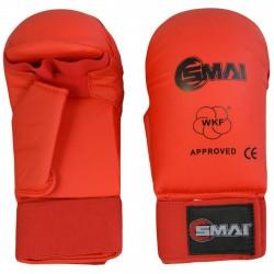 SMAI WKF Karate Handschutz Mit Daumen Rot