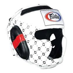 Fairtex Kopfschutz HG10 Super Sparring White Black