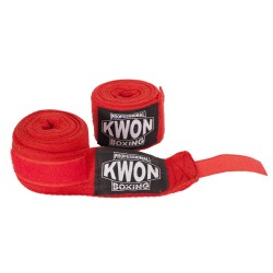 Kwon Professional Boxing Bandagen rot unelastisch
