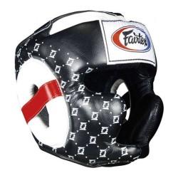 Fairtex Kopfschutz HG10 Super Sparring Black White