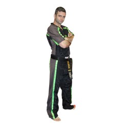 Top Ten Neon Mesh Kickboxanzug Black Green