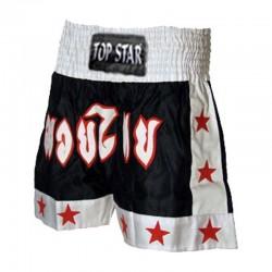 Thai Box Shorts Schwarz Weiss Rot