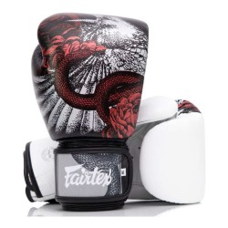 Fairtex The Beauty Of Survival Boxhandschuhe White Black Red