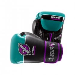 Hayabusa Sport 10oz Gloves Black Teal Purple