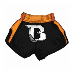 Booster TBS Air Thaiboxing Fightshorts Black Neon Orange