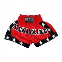 Kick Thai Box Shorts Rot Schwarz Weiss