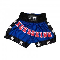 Kick Thai Box Shorts Blau Schwarz Weiss