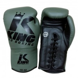 King Pro Boxing Boxhandschuh Laces 3 Green Black