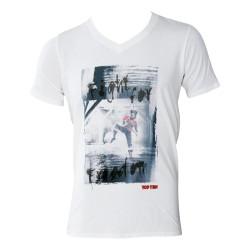Top Ten Andreas Hofer T-Shirt V Kragen Weiss