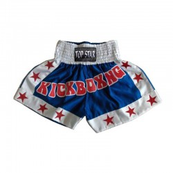 Kick Thai Box Shorts Blau Weiss Rot