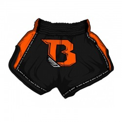 Booster TBT Pro 2 Thaiboxing Fightshorts Black Neon Orange