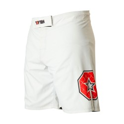 Top Ten Triangle MMA Shorts Weiss Rot