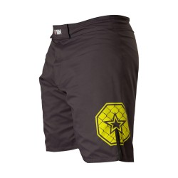 Top Ten Triangle MMA Shorts Schwarz Gelb