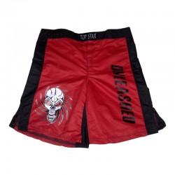 MMA Shorts Rot Schwarz