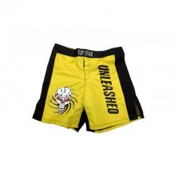 MMA Shorts Gelb Schwarz