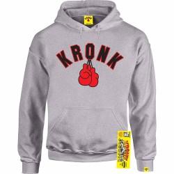 Kronk Gloves Hoodie Sport Grey