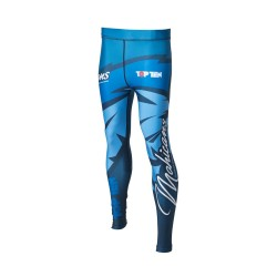 Top Ten Mohican Kompressions Hose Leggings Blau