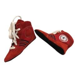 Sambo Schuhe Rot Leder