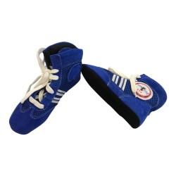 Sambo Schuhe Blau Leder